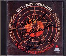 Daniel BARENBOIM Placido DOMINGO Signed LISZT Eine A Faust Symphony CD Autograph