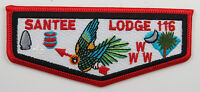 OA Lodge 116 Santee S12b BBL details, RED lockstitch; arrowhead 8x12mm; [D1674]