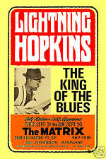 Classic Blues:  Lightnin' Hopkins at the Matrix in S.F. Concert Poster 1966