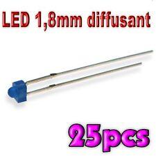 367/25# LED 1,8 mm bleu diffusant 25pcs