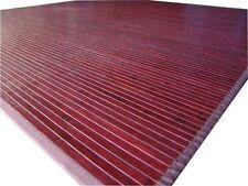 m1. Hochwertige BAMBUS Teppich  ca.190 x 190 cm.  Farbe Mahagoni