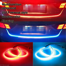 Dual Color Flowing LED Light Strip Trunk Tailgate Light Turn Signal for Car Auto