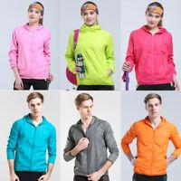 Women Men Ultra-Light Rainproof Windbreaker Jacket Breathable Waterproof
