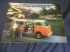 1979 VW Volkswagen Bus Westfalia Campmobile USA Market Brochure Catalog Prospekt