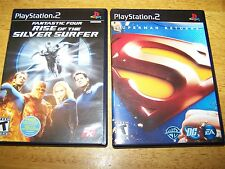 Lot 2 Play Station 2 Games Fantastic Four Rise Silver Surfer Superman Returns