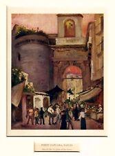 Napoli: Porta Capuana: Veduta Animata.Costumi.Stampa Antica + Passepartout.1904