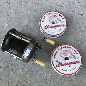 Utica 1745 Fishing Reel-Made in USA-not complete-incl 2 Shakespeare Line Spools