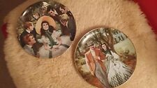 Beautiful Gone with the Wind Fine China Collector Plates -  #2233G & #7305H