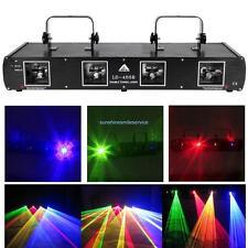 4 Lens 760mW Red+Green+Yellow+Blue RGYB DMX Laser DJ Stage Lighting Light Party