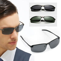 Mens Polarized Lens Aviator Driving Outdoor Cycling Sunglasses Eyewear Glasses