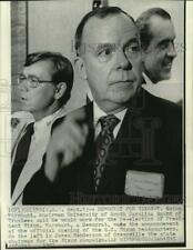 1972 Press Photo Eston Marchant at Nixon's campaign headquarters in SC