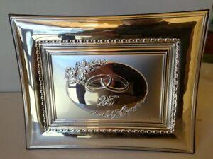 CORNICE /TARGA  ANNIVERSARIO 25° argento valenti &c.