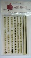 Woodware Craft Collection-Christmas Borders & Vertical Words-Clear Stamp Set-New
