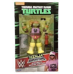 Teenage Mutant Ninja Turtles Ninja Superstars Michelangelo Macho Man TMNT WWE