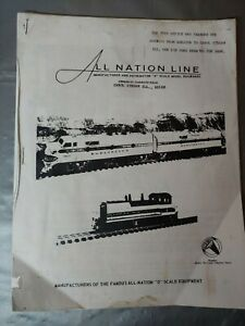 Vintage O Scale All Nation Catalog 2001 GMC, Walthers  listings