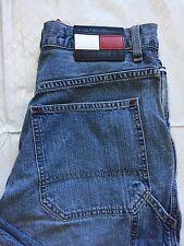 Tommy Hilfiger 29/31 Big Flag Carpenter Jeans Hammer Loop MedWash Distressed EUC