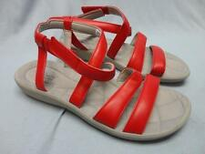 Womens Clarks Sillian Spade Cloud Steppers Strappy Sandals Red Size 10 - New