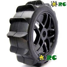 4pcs New RC 1:8 Baja Buggy Wheels & Snow / Sand Master Paddles Tires Set for HPI