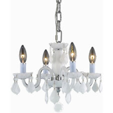 CEILING VENETIAN WHITE CRYSTAL CHANDELIER FIXTURE BATHROOM KITCHEN DINING ROOM