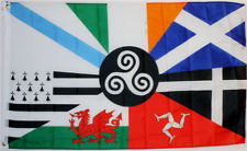 3x5 Celtic Nations Double Sided 3ply with Liner Nylon Flag 3'x5' Grommets
