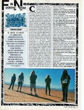 SP32 Clipping-Ritaglio 1992 Napalm Death Forever grind