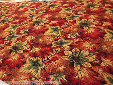 "Thanksgiving Vivid Autumn Leaves Fall Heavy Woven Table Cloth Throw 44""x94"""