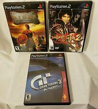 Lot of 3 PS2 Games: Rygar, Onjmusha 2, Gran Turismo 3 A-spec Sony Playstation