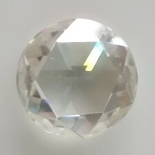 Round Rose Cut Loose Moissanite Use 4 Ring 0.91 Ct 6.42 x 2.75 Mm Vs1 Off White