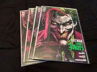 Batman Three Jokers #1-3 2020 DC Comics + 2nd Print #1 Johns Fabok Main Covers