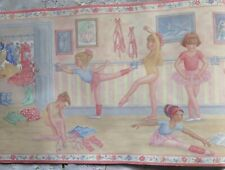 Laura Ashley Tapeten-Bordüre wallpaper border Ballet Rose Kinderzimmer Mädchen