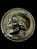 "3 Ozt MK BARZ ""High Relief Skull"" rounds .999 Fine Silver"