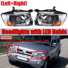 For Mitsubishi Pajero Montero L + R Set Headlights head lamps lights 2000-2006