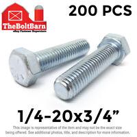 Grade 5 Steel 125 pcs 5//8-11 X 1-3//4 Flat Head Plain 3 Head Plow Bolts