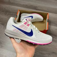 WOMENS NIKE AIR ZOOM STRUCTURE 22 WHITE RUNNING TRAINERS UK3.5 US6 EUR36.5