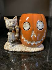 Yankee Candle Boney Bunch Bone Cat & Pumpkin Votive Holder