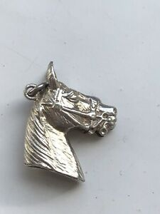 Vintage Solid Silver 925 Horse Head Charm