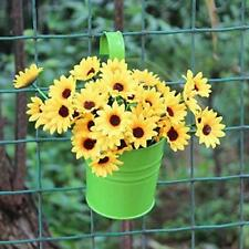 Mr.Garden® 6 Inch Round Metal Deck Rail Planter Easy and Beautiful,Green