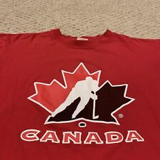 VTG Team Canada National Hockey Team T Shirt Olympics Men's Medium