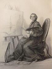 PERSONNAGE XVIIIe SIECLE / GRAVURE / Joseph Vernet
