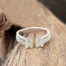 Solid 18k White Gold Journey Ring Pave Diamond Designer Jewelry NEW COLLECTION!