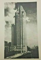 Vintage Litho Chicago Tribune Tower Greeting Card Unique w Le' Mousquetaire Poem