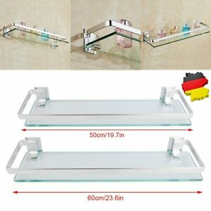 Glasablage Glasboden 50 & 60cm Wandregal Badregal Badezimmerablage Spiegelablage