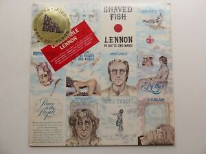 JOHN LENNON ORIG 1975 USA LP SHAVED FISH COLLECTIBLE LENNON STICKER SLEEVE
