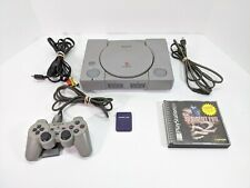 Sony PlayStation 1 Lot Ps1 Console System Controller & Resident Evil 2 - Tested
