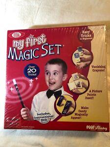 New Kids Magician Hobby Show Ideal My First Magic Set 20 Tricks DVD Magic Wand