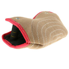 2 Handles Puppy Bite Sleeve Dog Training Arm Protection Jute Tug Toys Beige