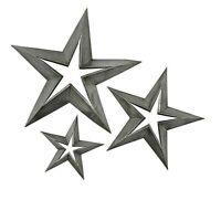 Primitive/Rustic 3 pc TIN STAR SET Farmhouse/Barn FREE SHIPPING