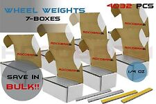 7 Boxes Wheel Weights 1/4 .25 OZ Stick On Low Pro Grey 4302 Pcs Total 9lb Each