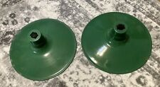 New Listing2 Vintage Green Porcelain Light Shade 14�diameter Barn Light Gas Station Light