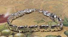 925 Sterling Silver Puffed Elephant Bracelet